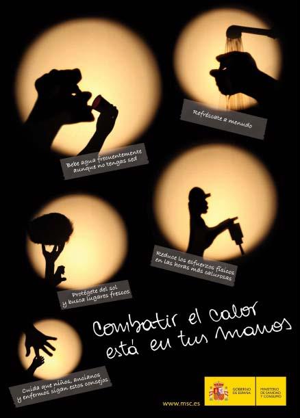 """Sanidad lanza la Campaña 2009 """"Combatir el Calor está en tus manos"""""""