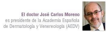 doctor José Carlos Moreno, presidente de la Academia Española de Dermatología y Venereología