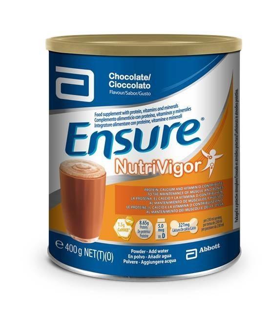 Suplemento para aumentar masa muscular con  Ensure NutriVigor