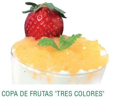 """Copa de frutas """"tres colores"""""""