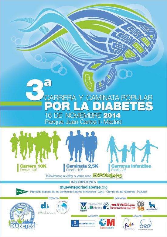 La Carrera y Caminata Popular por la Diabetes prevé batir su récord con 4.000 participantes