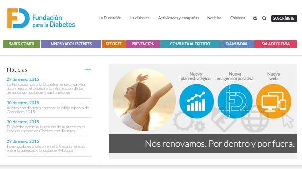 La Fundación para la Diabetes renueva su web para mejorar la información a pacientes y familiares