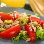 ensalada dieta mediterranea, tomate