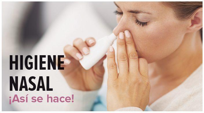 Higiene nasal, ¡así se hace!