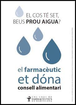 Farmacéuticos de Barcelona recuerdan la importancia de la hidratación en gente mayor y deportistas