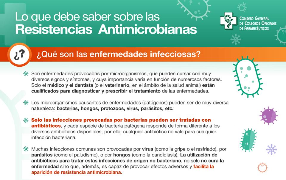 Los farmacéuticos actuarán para prevenir las resistencias antimicrobianas