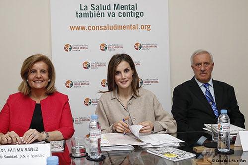 La Reina Letizia, con la Confederación Salud Mental España