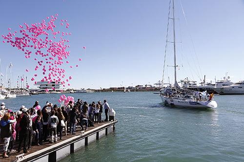 Mil globos para despedir a las participantes del Reto Pelayo Vida