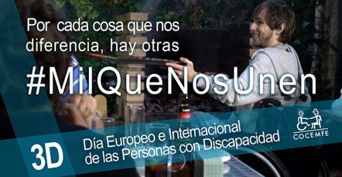 COCEMFE lanza la campaña #MilQueNosUnen por el Día Internacional de la Discapacidad