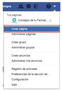 pagina facebook crear