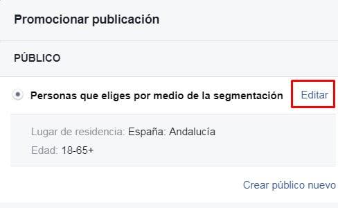 Promocionar publicaciones de Facebook 2