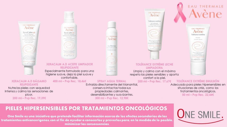 Cuidados Avène para pieles hipersensibles por tratamientos oncológicos