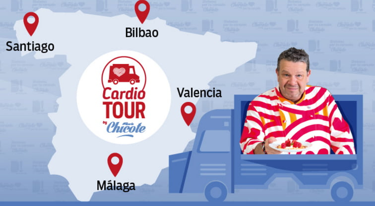De tour con Chicote con la campaña #DiabetesPorTuCorazon
