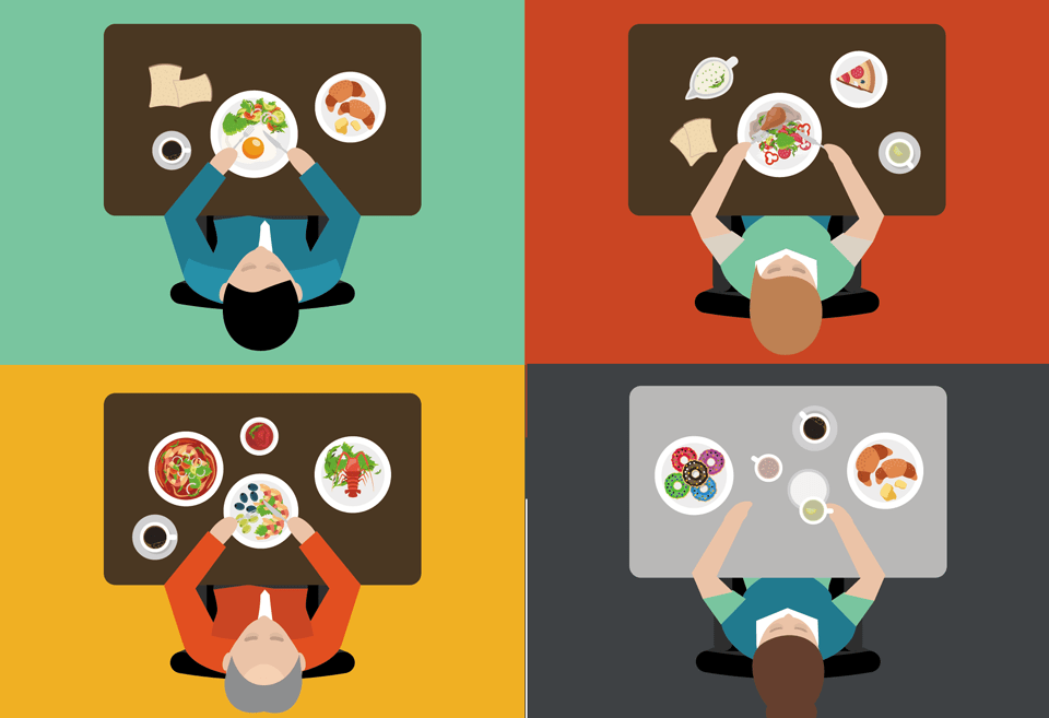 Un estudio identifica 4 patrones alimentarios entre los españoles
