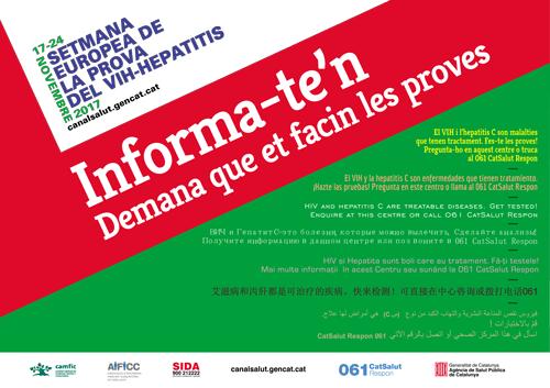 Las farmacias de Tarragona, con laSemana Europea de la Prueba del VIH