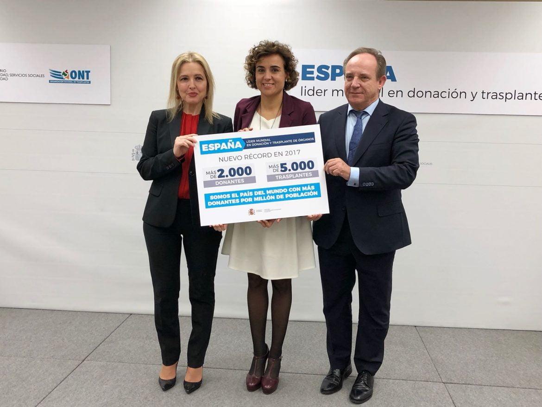 España reafirma su liderazgo mundial en donación y trasplantes