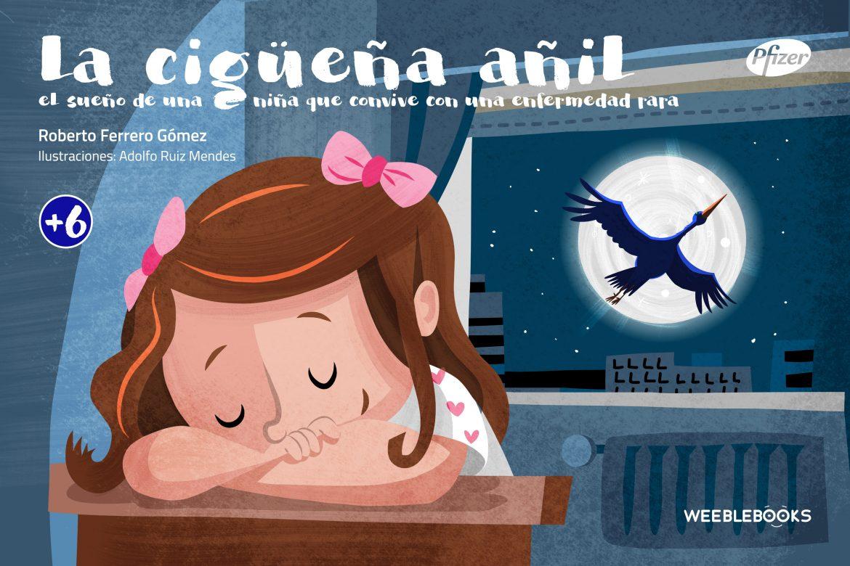 'La cigüeña añil', cuento infantil para comprender las enfermedades raras