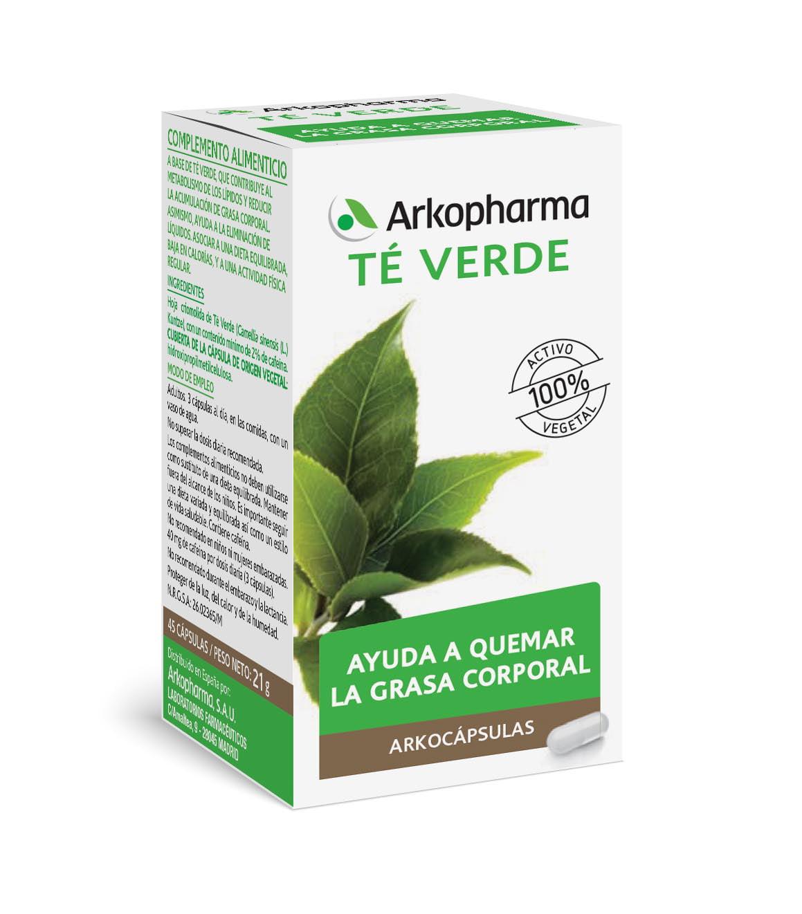 Arkocápsulas de té verde, ayudan a quemar la grasa corporal