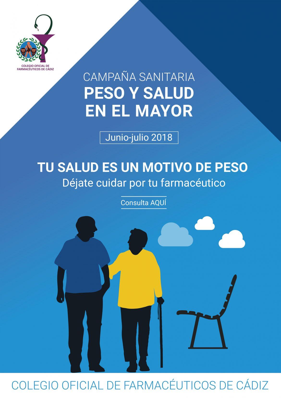 Las farmacias de Cádiz trabajarán por el peso saludable de las personas mayores