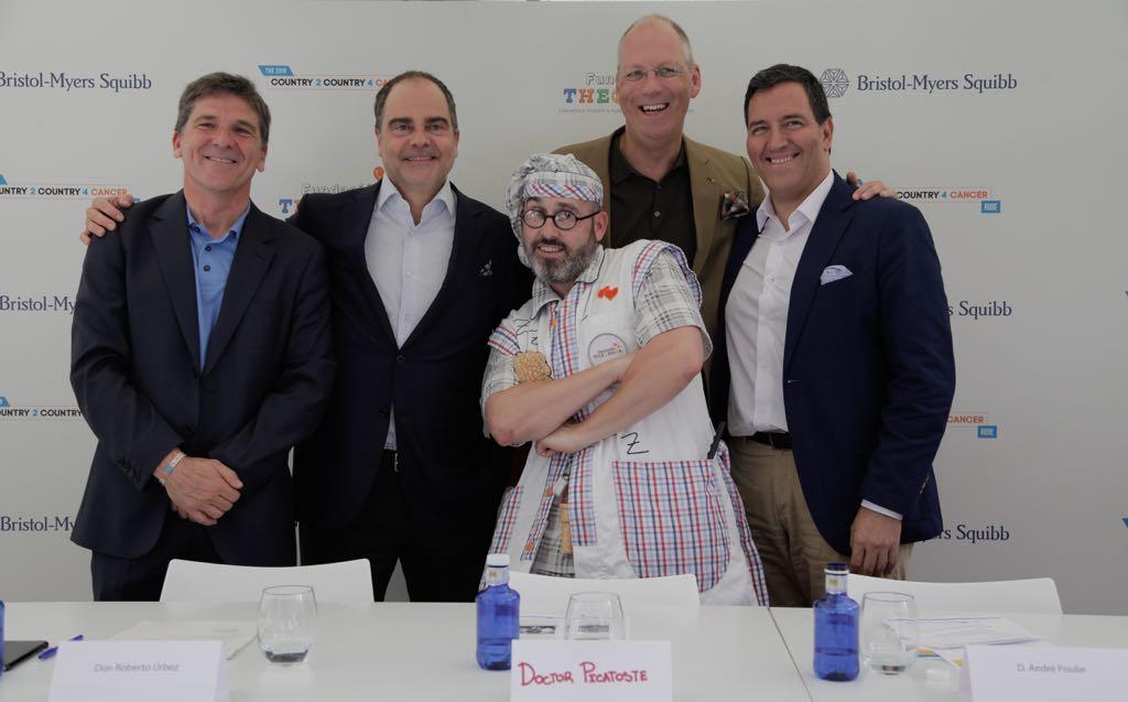 Empleados de Bristol-Myers Squibb recaudan fondos para niños con cáncer