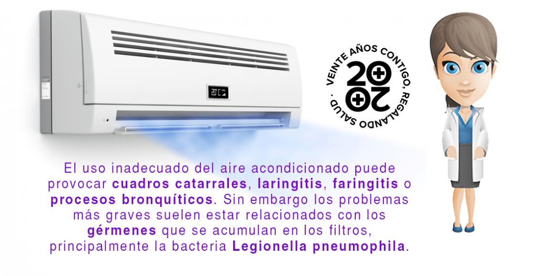 Del resfriado a la Legionella, los riesgos del aire acondicionado
