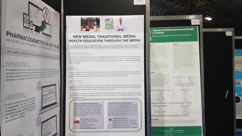 El Consejo General presenta 3 pósteres en Congreso Mundial de Farmacia