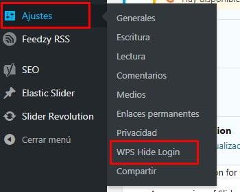 ajustes para personalizar el acceso a wordpress