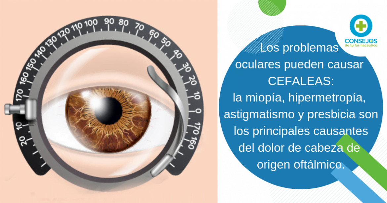 La miopía, hipermetropía, astigmatismo y presbicia pueden desencadenar cefaleas