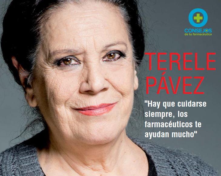 """TERELE PÁVEZ: """"Hay que cuidarse siempre, los farmacéuticos ayudan mucho"""""""