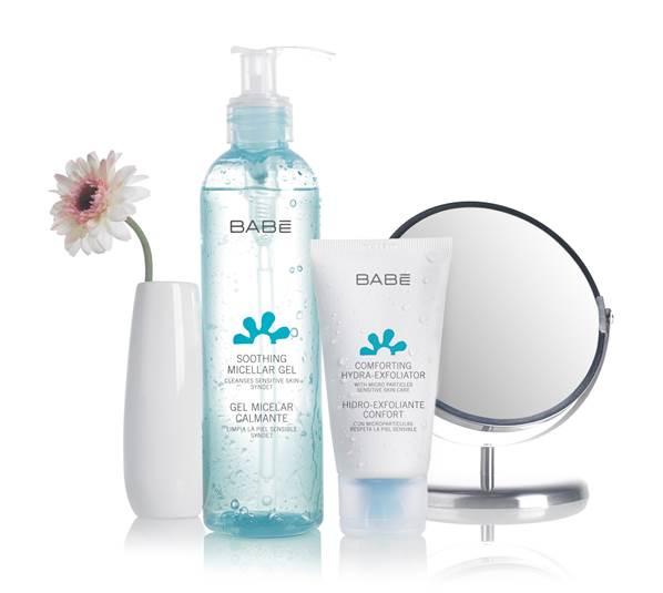 Limpieza sin jabón para piel sensible de Babé