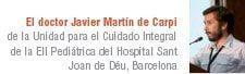 doctor Javier Martín de Carpi, de la Unidad para el Cuidado Integral