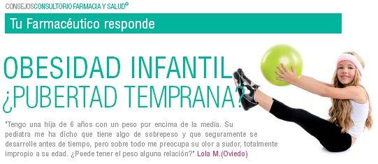 OBESIDAD INFANTIL ¿Pubertad temprana?