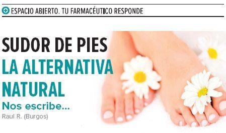 Sudor de pies: la alternativa natural