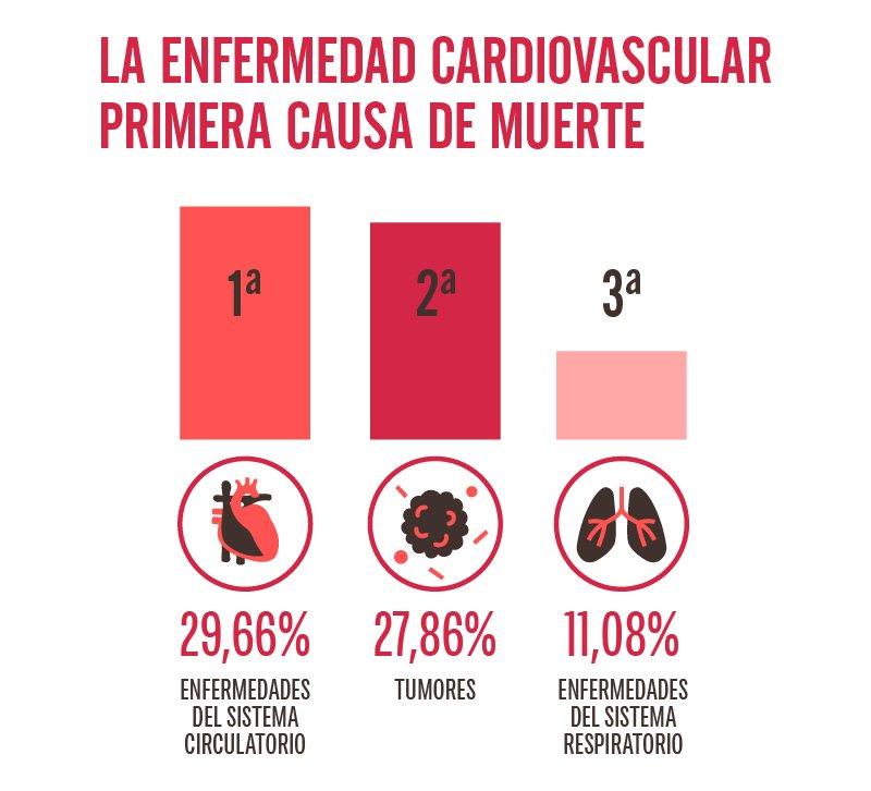 La enfermedad cardiovascular encabeza la mortalidad en España