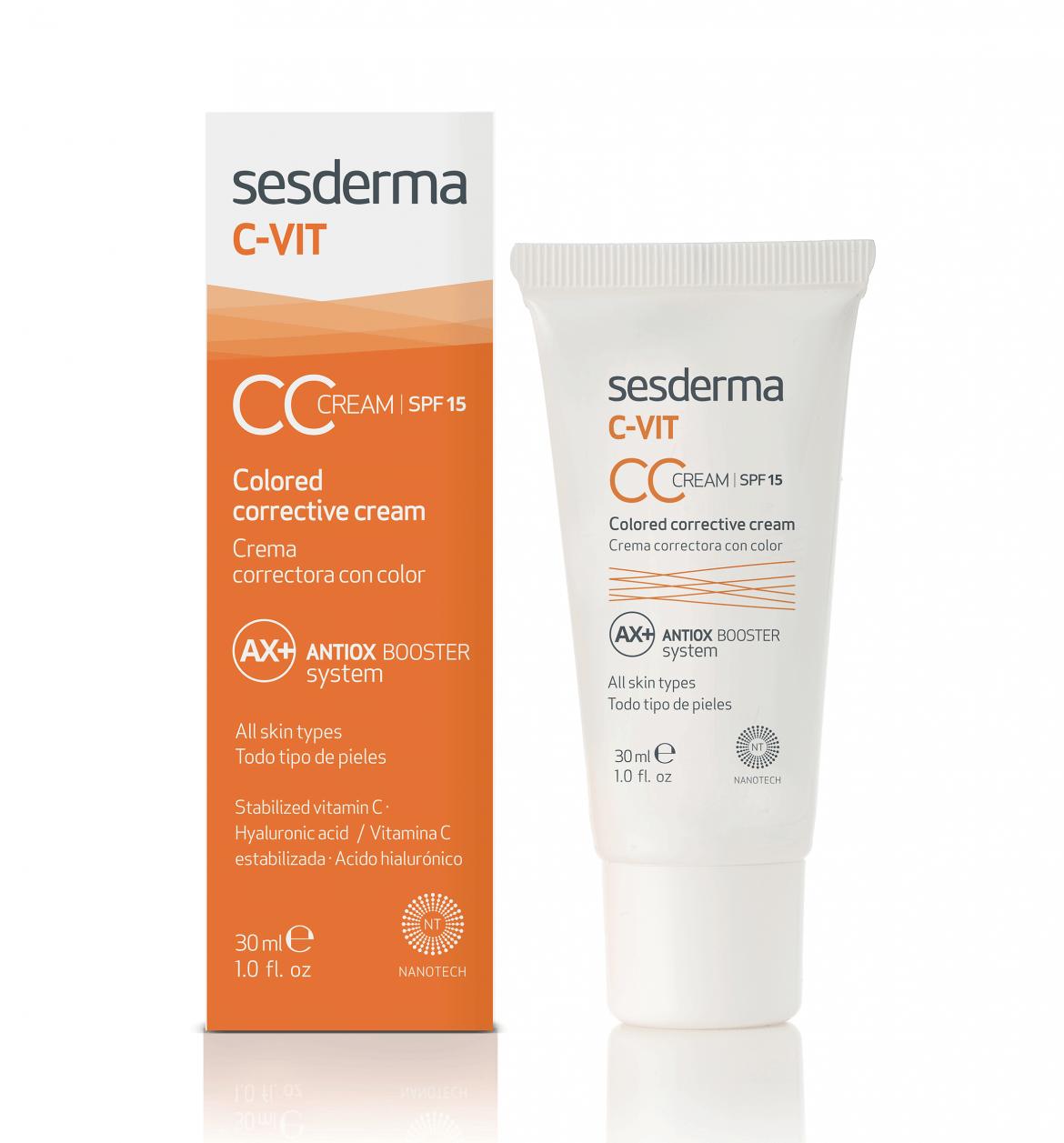 'C-VIT CC cream SPF15' de Sesderma, 4 cremas en una