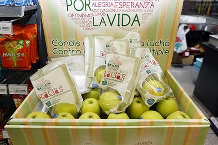 Se han vendido 50.000 manzanas solidarias por la esclerosis múltiple
