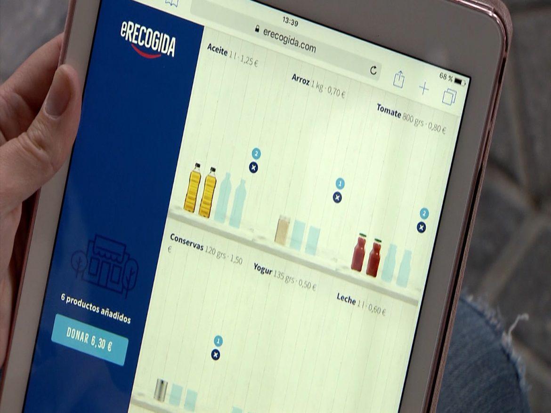 Nace e-Recogida, un supermercado de donación de alimentos online