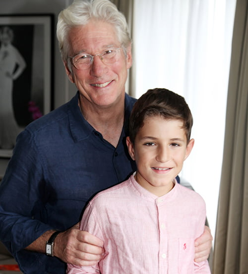Richard Gere, con los niños españoles con trasplante multivisceral