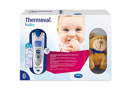 Thermoval baby, termómetro con osito de peluche