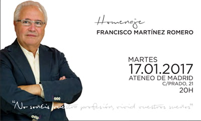 Homenaje a Francisco Martínez Romero, primer presidente y fundador de SEFAC