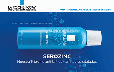 Serozinc, bruma anti-brillos y anti-poros dilatados