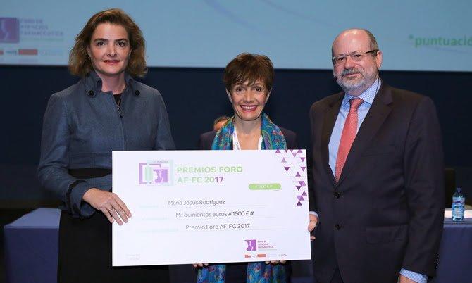 María Jesús Rodríguez, ganadora de los Premios Foro Atención Farmacéutica – Farmacia Comunitaria