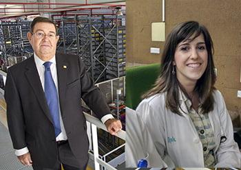 Manuel Espuny y Marta Gómara, farmacéuticos zaragozanos del año