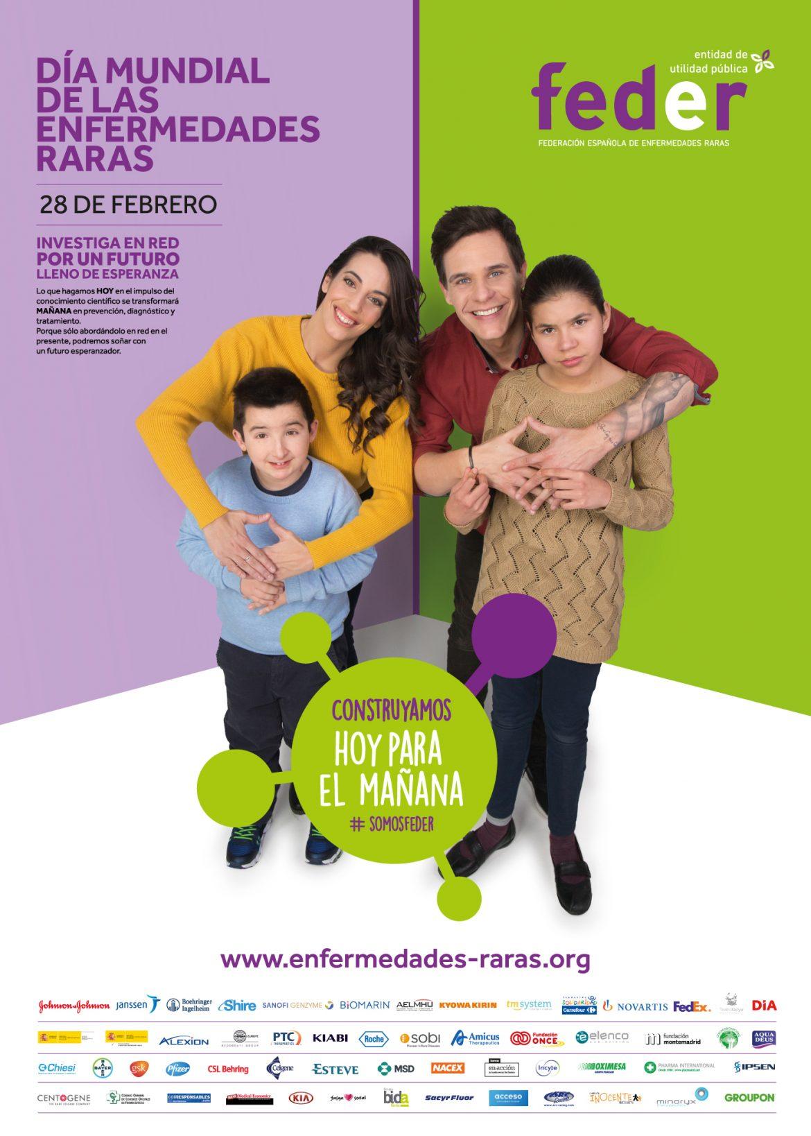 Almudena Cid y Christian Gálvez, embajadores solidarios de las enfermedades raras