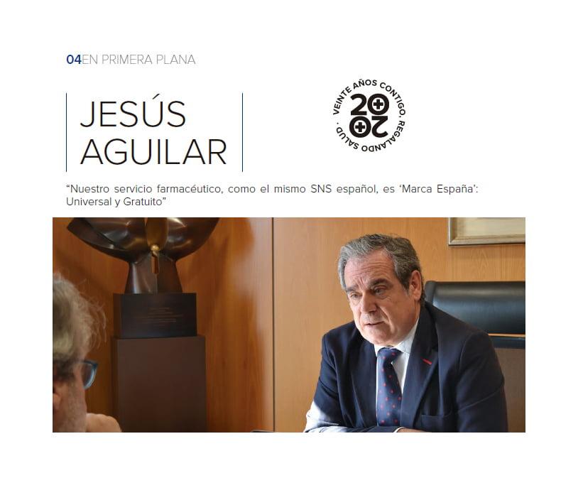 """JESÚS AGUILAR: """"Nuestro servicio farmacéutico es """"marca España"""": universal y gratuito"""""""