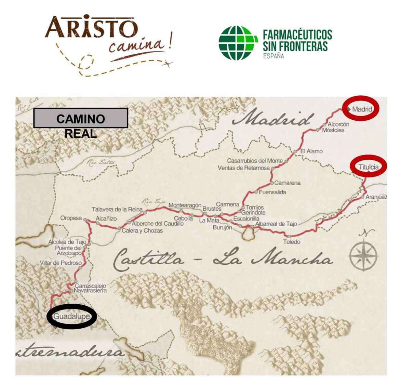 'Aristo Camina' recupera el histórico Camino Real en un reto solidario