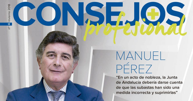 """Manuel Pérez Fernández: """"La Junta de Andalucía debería darse cuenta de que las subastas han sido una medida incorrecta y suprimirlas"""""""