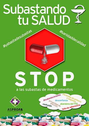 Asprofa lanza una campaña de recogida de firmas contra la subasta de medicamentos