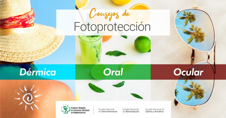 El farmacéutico aconseja combinar fotoprotección y alimentación frente al sol