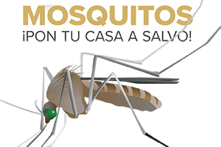 Fuera mosquitos,¡pon tu casa a salvo!